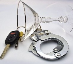 Martini Glass with Car Keys and Handcuffs in Hartford, CT